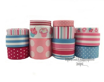 24 Yds CUTIE CUPCAKE  wholesale grosgrain ribbon collection   Low Shipping Cost