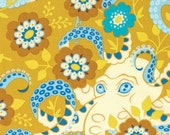 SALE! Hello Love, Octopus's Garden, Gold, Heather Bailey, One Yard