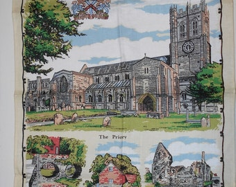 Linen Towel - CHRISTCHURCH - Brand New! - Kitchen Towel - Church - Cathedral - Religious towel - Christian Linen Towel