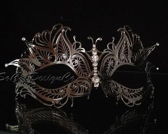 Masquerade Mask, Womans Masquerade Masks, Silver Mask, Filigree Mask, Metal Masks, Mask for Women, Venetian Mask, Venetian Masks, Mask