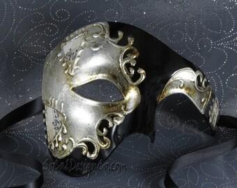 Mens Mask, Masquerade Masks Men, Phantom Mask, Venetian Mask, Masquerade Ball Mask, Mardi Gras Mask, Masquerade Mask, Halloween Mask, Mask