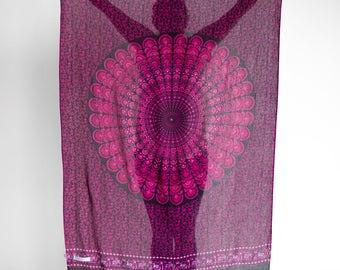 Valentina Dreamer Sarong // Beach Boho Pareo, Wrap, Blanket, Wall Hanging, Tapestry, Scarf
