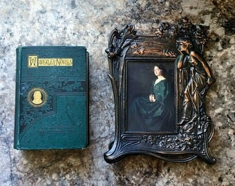 Late 1800's Waverley Novels Fair Maid Of Perth & Antiquary Sir Walter Scott De Wolfe Fisk Co Boston Publishers Decorative Embellished Book