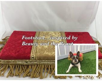 The Footstool, Beauty and the Beast inspired, dog costume, unique dog costume, Halloween dog costume, Disney dog costume, birthday costume.
