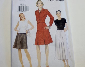 Skirt Pattern Vogue 9519: Misses' Skirt Size 14, 16, 18 UNCUT - Sewing Pattern, Women's Clothing Pattern