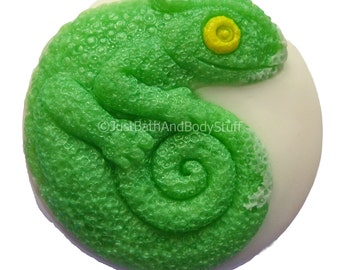 Chameleon Soap, Lizard Soap Bar, Reptile Soap