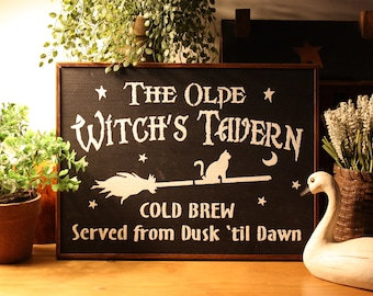 The Olde Witches Tavern Wall Sign
