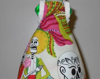 Dish Soap Bottle Apron Day of the Dead Fabric