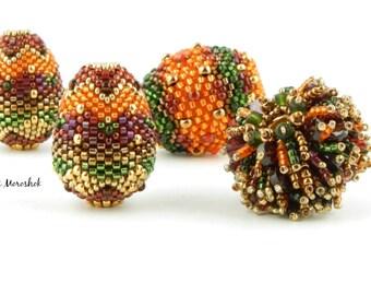 Sale - Reduced 50% - focal Beaded Beads by SharriMoroshok