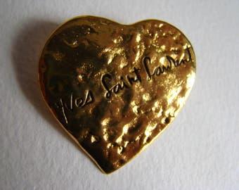 Yves Saint Laurent YSL heart brooch or pendant