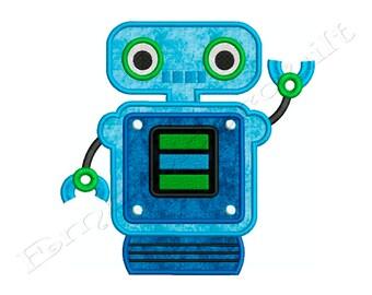 ROBOT 3 - Machine Applique Embroidery - Instant Digital Download