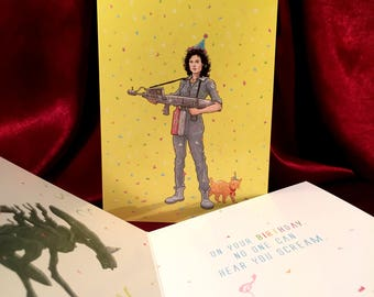Ripley ALIEN Birthday Card!