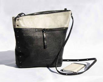 Shoulder Bag - - BLACK and WHITE