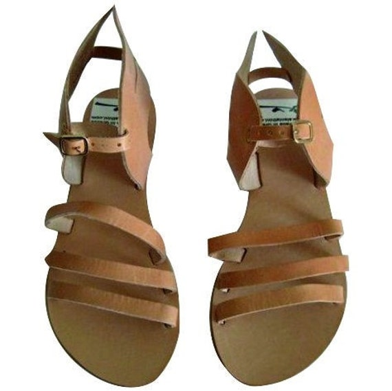 Greek sandals leather sandals with wings/winged sandals, sandales ailees sandales femme sandales grecque