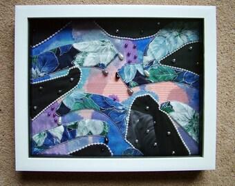 Abstract applique work textile art.