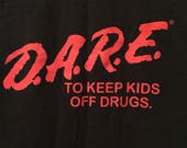 Vintage D.A.R.E. tee in Black