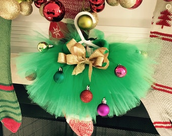 Christmas Tree Dog Tutu Sewn Puffy Xxs to XXXL