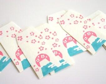 Mini Mini Mini FUJI SAN Envolope - Japanese motif mini envelopes (10 envelopes 2-1/2 x 1-1/2 )