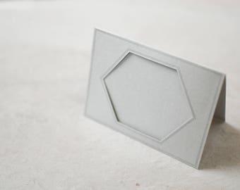 Hexagonal Frame Notecard