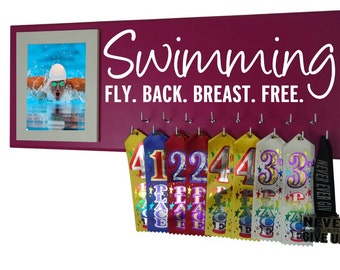 Swimming, swimming: fly back breast free competitive swimming, swimming medal holder, swimming pool, keep swimming, award, ribbons, gifts