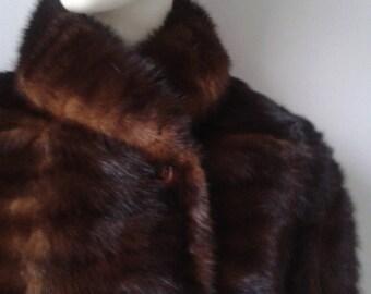 Mink long fur jacket