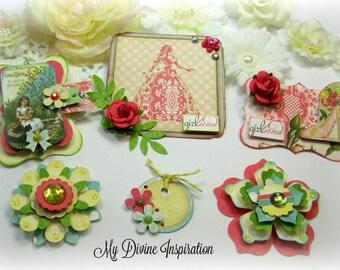 Webster's Pages Girl Land Scrapbook Embellishments Paper Embellishments for Scrapbooking Layouts, Cards, Mini Albums Paper Crafts
