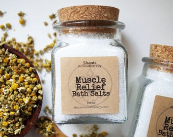 Muscle Relief Bath Salts - Soothing Bath Soak for Sore Muscles, Gifts for Mom, Gifts for Dad, Gifts For Runners