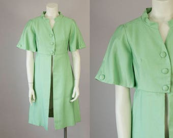 50s Vintage Emma Domb Green Dress Jacket (S)