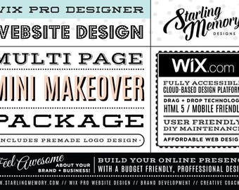 Wix Website MINI MAKEOVER Multi-Page Package - Includes PreMade Logo - Wix WebDesign Package - Wix Pro - Wix Website Clean Up - Wix Pro