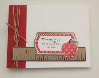 Ruler and apple teacher thank you