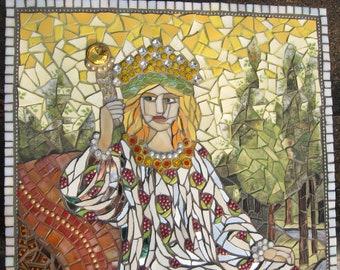 The Empress - Mosaic Wall Art - Tarot