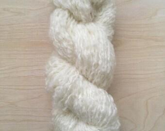Reclaimed mohair blend yarn