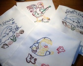 Reserved Listing for Kit Delaney Dish (Tea) Towel Flour Sack Dish Towel Hand Embroidered Dish Towel Cotton Dish Towel