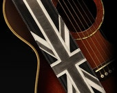 Valentine Sale Vintage Guitar Strap, Great Britain Guitar Strap:  Union Jack Guitar Strap