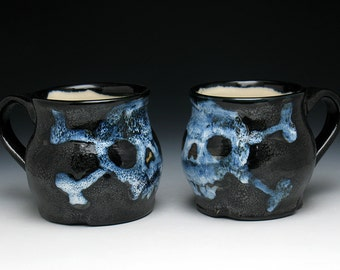 Skull & Crossbones Mugs Set of Two