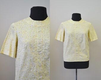 1960s Cotton Mini-Print Shirt