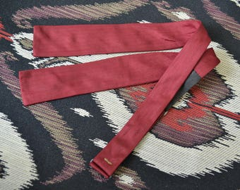 1950s Red Silk Bow Tie