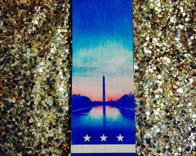 Washington Monument with the DC Flag