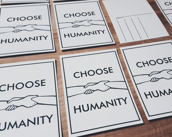 Choose Humanity Postcards - Set of 4 - Write Your Representative and Support ACLU