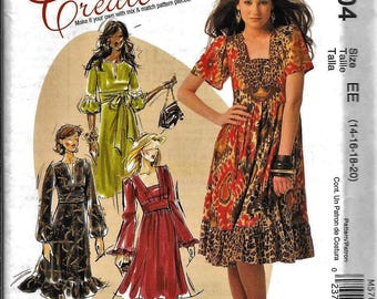 McCall's M5704 Create It DRESS Sewing Pattern 5704 UNCUT Size 14, 16, 18, 20
