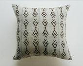 Gray and Brown Mudcloth Pillow Cover - Grey Tribal Throw Pillow - Modern Bohemian Decor