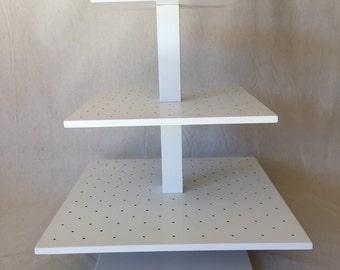 3 Tier  Square Custom Made Cake Pop Stand. Holds 244 Cake Pops.