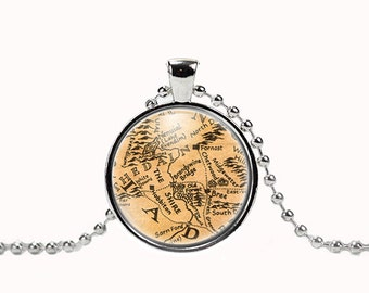 The Shire Map Pendant with Necklace 6136P
