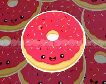 "Kawaii Donut 4""x4"" Sticker FREE Shipping"