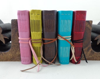 Small Graph Paper Leather Field Journal - Ready to Ship