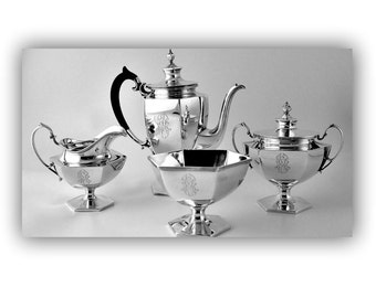 SOLD Antique American Sterling Silver Coffee Set - C.1900 American Silver - Family Heirloom Silver- Family Heirloom