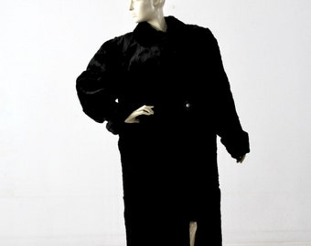 1930s fur coat, black full length fur by Vogue Fine Furs