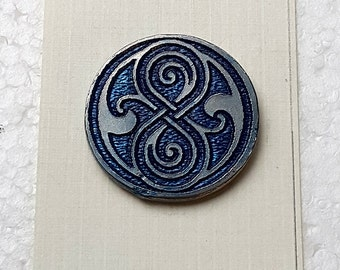 Doctor Who Seal of Rassilon Enameled Pewter Lapel Pin