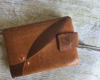 Chestnut Leather Wallet - Vintage Wallet