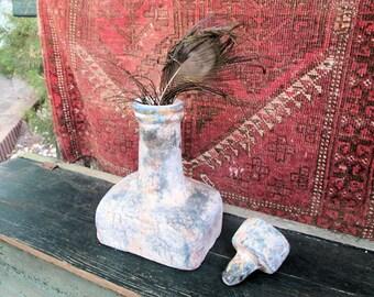 Terracotta Vase/Jar/Water Bottle/Water Jug, with Stopper, Vintage